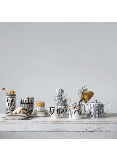 Warm Design Hand-Painted Porselen Çaydanlık  Renkli